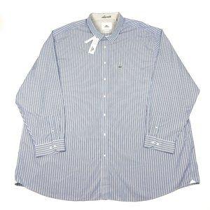 Lacoste 5XLT Tall Long Sleeve Striped Dress Shirt